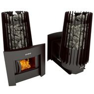 Дровяная банная печь Grill'D Cometa Vega 180 window black